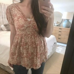 GAP MATERNITY Cotton Paisley Blouse